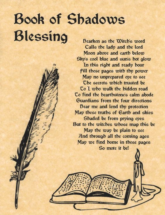photo about Printable Spell Book Pages identified as E-book of Shadows Blessing (Printable Spell Web pages) My Witchy